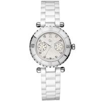 Buy Gc Ladies Mother of Pearl White Ceramic Bracelet Watch 46003L1 online
