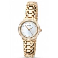 Buy Sekonda Champagne Pearl Ladies Gold Tone Steel Bracelet Watch 4690 online