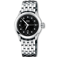 Buy Oris Ladies Artelier Meshed Black Stone Set Dial Watch 56176044099MB online