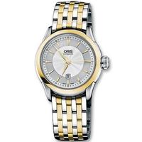 Buy Oris Ladies Artelier Meshed 2-Tone Steel Bracelet Watch 56176044351MB online