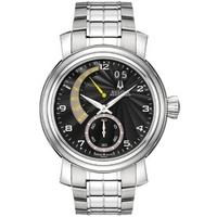 Buy Bulova Accutron Gents Black Dial Silver Tone Bracelet Watch 63C103 online