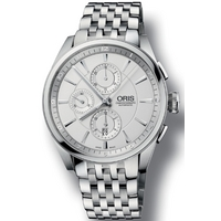 Buy Oris Gents Artix Silver Tone Bracelet Chronograph Watch 67476444051MB online