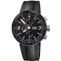 Buy Oris Gents TT1 Black Rubber Strap Chronograph Watch 67476594174RS online