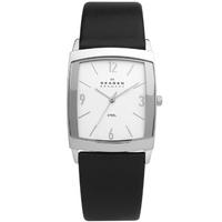 Buy Skagen Gents Black Leather Strap Watch 691LSLS online