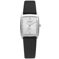Buy Skagen Ladies Black Leather Strap Watch 691SSLS online