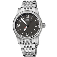Buy Oris Ladies Swiss Hunter PS Edition Silver Tone Bracelet Watch 73376494063MB online