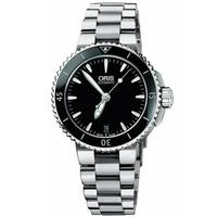Buy Oris Gents Aquis Date  Silver Tone Bracelet Watch 73376524154MB online