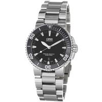 Buy Oris Gents Aquis Date Silver Tone Bracelet Watch 73376534154MB online