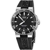 Buy Oris Gents Aquis Date Black Rubber Strap Watch 73376534154RS online