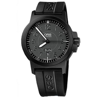 Buy Oris Gents BC3 Advanced Black Rubber Strap Watch 73576414764RS online