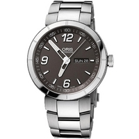 Buy Oris Gents TT1 Silver Tone Bracelet Watch 73576514163MB online