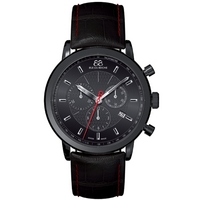 Buy 88 Rue Du Rhone Gents Black Leather Strap Watch 87WA120046 online