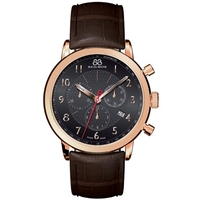 Buy 88 Rue Du Rhone Gents Brown Leather Strap Watch 87WA120050 online