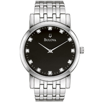 Buy Bulova Gents Diamonds Stainess Steel Bracelet Watch 96D106 online