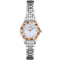 Buy Bulova Ladies Diamond Stainless Steel Bracelet Watch 96P130 online