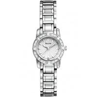 Buy Bulova Ladies Diamond Stainless Steel Bracelet Watch 96R156 online