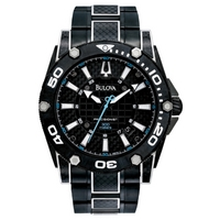 Buy Bulova Gents Precisionist Carbon Fibre Watch 98B153 online