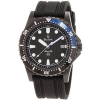 Buy Bulova Gents Marine Star Black Rubber Strap Watch 98B159 online