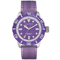 Buy Nautica Gents BFD 100 Purple Rubber Watch A09606G online