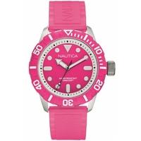 Buy Nautica Unisex Pink Rubber Strap Watch A09607G online