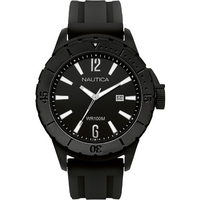 Buy Nautica Gents Black Rubber Strap Watch A15601 online