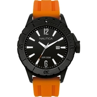 Buy Nautica Gents Orange Rubber Strap Watch A15602 online