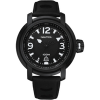 Buy Nautica Gents Black Rubber Strap Watch A17556 online