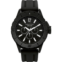 Buy Nautica Gents Black Rubber Strap Watch A17594 online