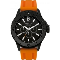 Buy Nautica Gents Orange Rubber Strap Watch A17595 online