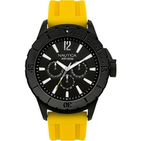 Buy Nautica Gents Yellow Rubber Strap Watch A17596 online
