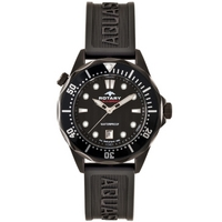 Buy Rotary Gents Black Rubber Watch AGS00069-W-04 online