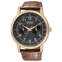 Buy Citizen Gents Vintage Strap Rose Gold Tone Watch AO9003-08E online