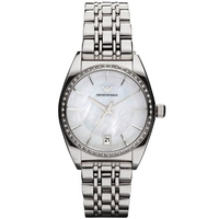 Buy Emporio Armani Ladies Stone Set Steel Bracelet Watch AR0379 online