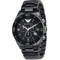 Buy Emporio Armani Black Ceramica Chrono Watch AR1421 online