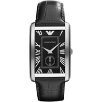Buy Emporio Armani Black Leather Strap Watch AR1604 online