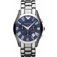 Buy Emporio Armani Gents Chronograph Silver Tone Bracelet Watch AR1635 online