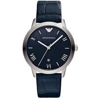 Buy Emporio Armani Gents Dino Blue Leather Strap Watch AR1651 online