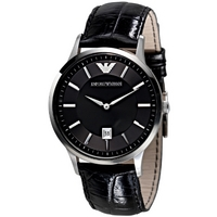 Buy Emporio Armani Gents Leather Strap Watch AR2411 online