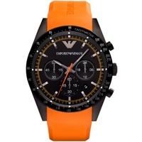Buy Emporio Armani Gents Chronograph Orange Rubber Strap Watch AR5987 online