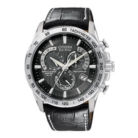Buy Citizen Gents Eco Drive Atomic Chronograph Strap Watch AT4000-02E online