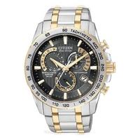 Buy Citizen Gents Eco Drive Atomic Chronograph Bracelet Watch AT4004-52E online