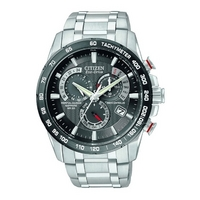 Buy Citizen Gents Eco Drive Atomic Chronograph Bracelet Watch AT4008-51E online