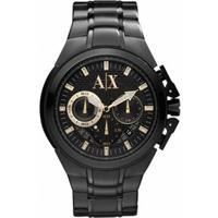 Buy Armani Exchange Gents Active Black Steel Bracelet Chronograph Watch AX1192 online