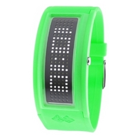 Buy Black Dice Green Unisex Guru LED Watch online