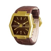 Buy Black Dice Leather Strap Watch BD-055-04 online
