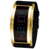 Buy Black Dice Gents Gold Plated Digital Watch BD-060-03 online