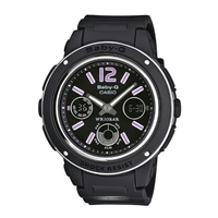 Buy Casio Ladies Baby-G Black Chronograph Watch BGA-150-1BER online