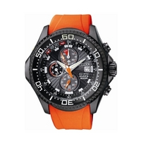 Buy Citizen Gents Divers Orange Rubber Strap Watch BJ2119-06E online