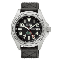 Buy Citizen Gents Royal Marine Commando Multi Time Zones Strap Watch BJ9140-01E online