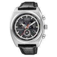 Buy Citizen Gents Calibre 8700 Black Leather Strap Watch BL8120-01E online
